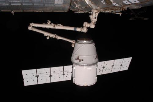 Satellit im Weltall.