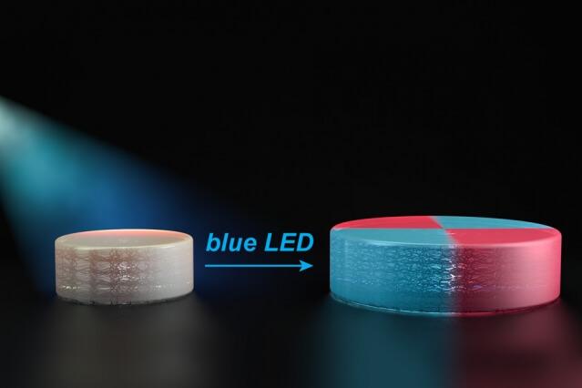 Veränderungen durch blaues LED.