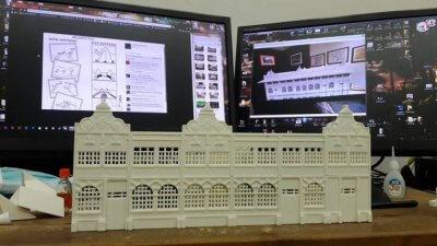 3D-gedrucktes Teil.