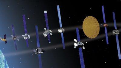 Boeing Satelliten-Modelle.