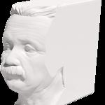 Buch mit Einsteins Kopf