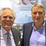 Die CEO's beider Unternehmen während der Vorstellung der neuen Partnerschaft.