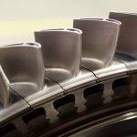 Schaufeln für Gasturbine aus dem 3D-Drucker