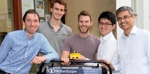 WaterScope Forscherteam.