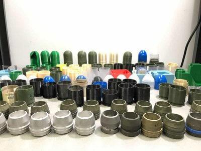 Einzelteile der munition
