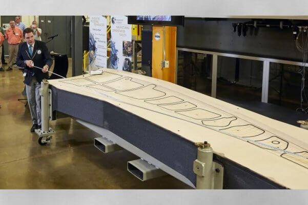 3D-gedrucktes Boeing 777 Ersatzteil.