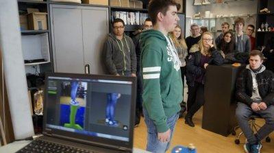 3D Scan von einem Schüler