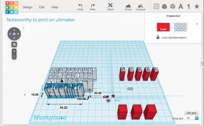 3d-software mit buchstaben modellen