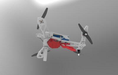 3D-Modell einer Drohne