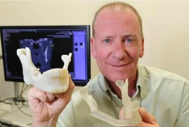 Kiefermodell aus 3D-Drucker