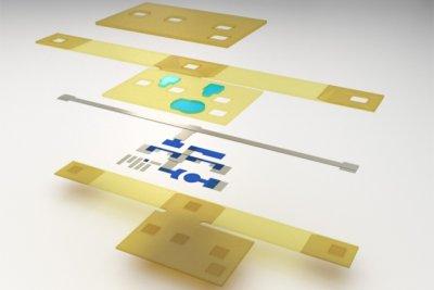 Die Einzelteile des 3D-gedruckten Moduls