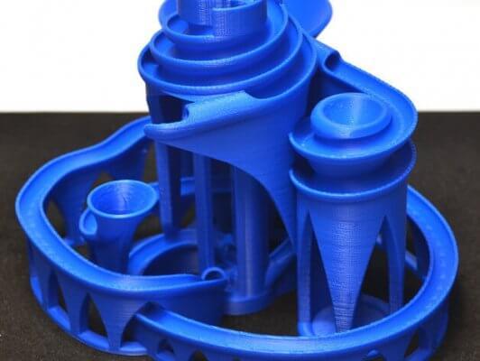 Kugelbahn aus 3D-Drucker
