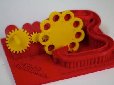 Kugelbahn-Maschine aus 3D-Drucker