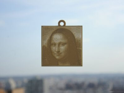 Mona Lisa als Lithophane