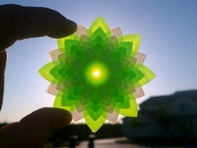 Lotusblume aus dem 3D-Drucker