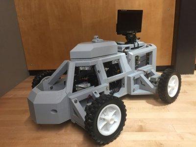 studenten entwickelten polizei roboter sentinel mit dem 3d drucker. Black Bedroom Furniture Sets. Home Design Ideas