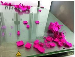 Fehldruck mit 3D-Drucker