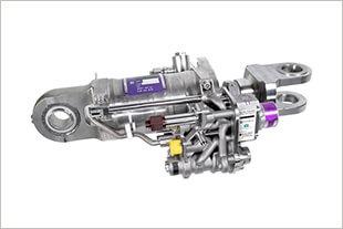 3D-gedruckter Seitenruderantrieb.