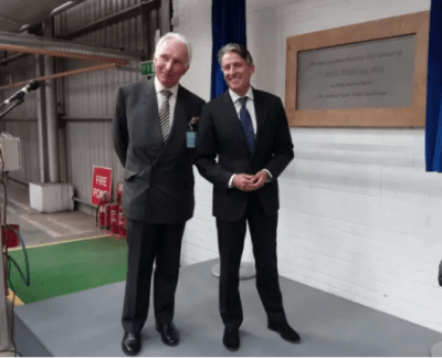 Sir Andrew Cook and Lord Sebastian Coe