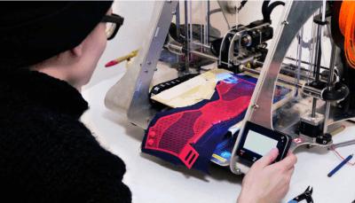 3D-Druck auf Baumwolle für den Schuh aus dem 3D-Drucker