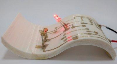 3D-gedruckter Schaltkreis.