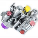 3D-gedruckter Spoiler-Ventilblock.