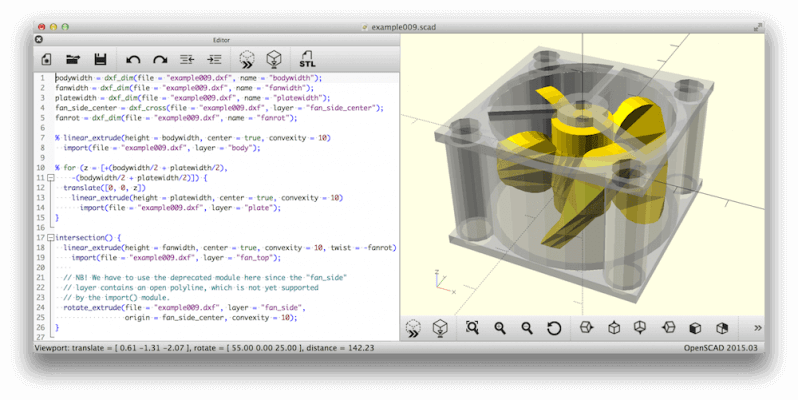 Screenshot OpenSCAD