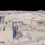 3D-Modell von Kapitol und Forum Rom