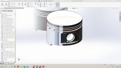 Modell in CAD Software