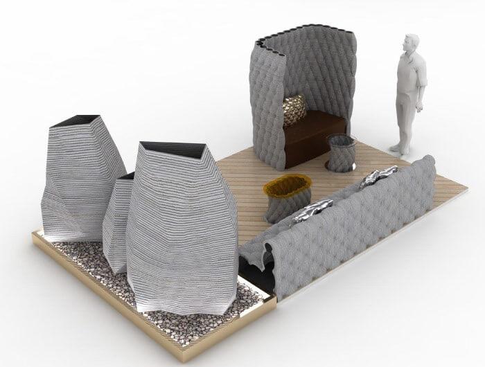 k nstler anon pairot fertigt beton gartenm bel mit 3d drucker. Black Bedroom Furniture Sets. Home Design Ideas