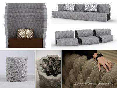 Betonmöbel aus 3D-Drucker