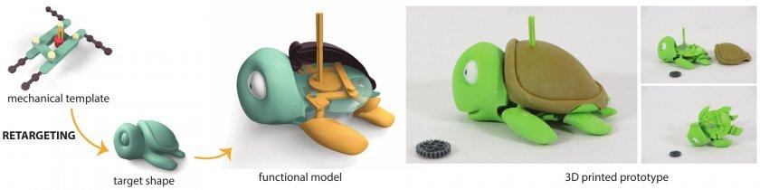 Schildkröte mit Mechanik