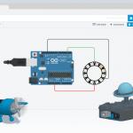 Software Tinkercad und Circuit gemeinsam