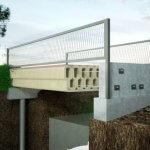Fahrradbrücke aus 3D-Beton-Elementen
