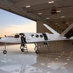 Modell des Elektroflugzeugs Alice Commuter