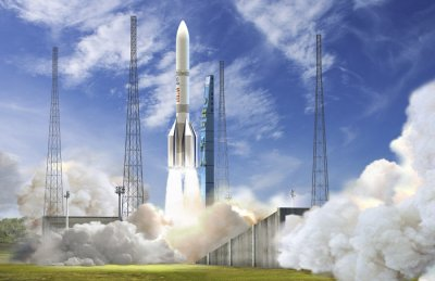Illustration eines Ariane 64 Starts