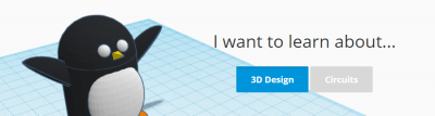 Lernoption in der Tinkercad Software