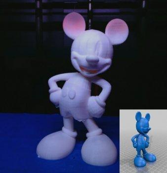 Micky Maus aus 3D-Drucker