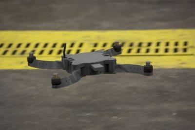 "Drohne ""The Nibbler"" bei einem Flugversuch"