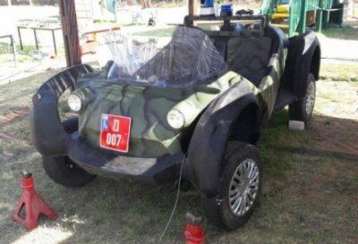 Polizei auto aus dem 3D-Drucker