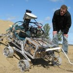 Mond- und Marsfahrzeug Rover.