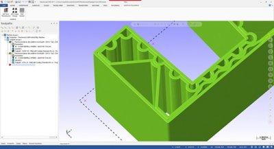 Innere Struktur modeelierung mit der Software con Thermwood