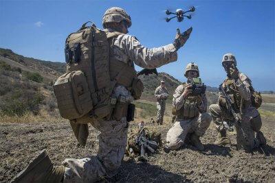 US-Marines mit Drohne