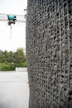 Betonmischung in Schalung, digital erstellt