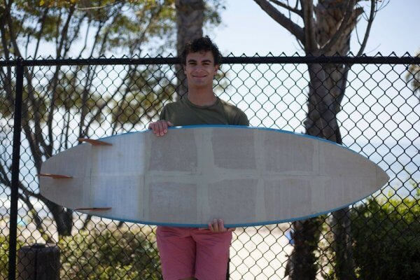 Surfboard mit Entwickler