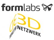 Logo 3D-Netzwerk und Formlabs