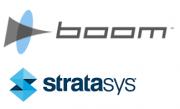 Logo Boom Supersonic und Stratasys