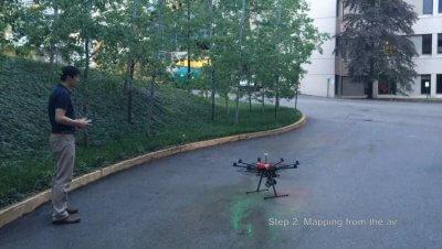 Einsatz einer Drohne
