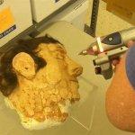 3D-Scan eines Pappmaché Kopfes