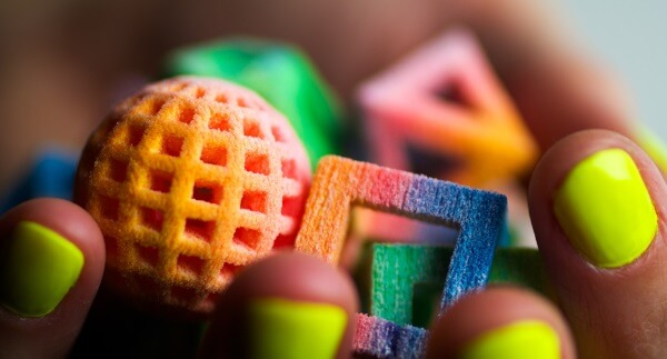 3D-gedruckte essbare Dekoelemente